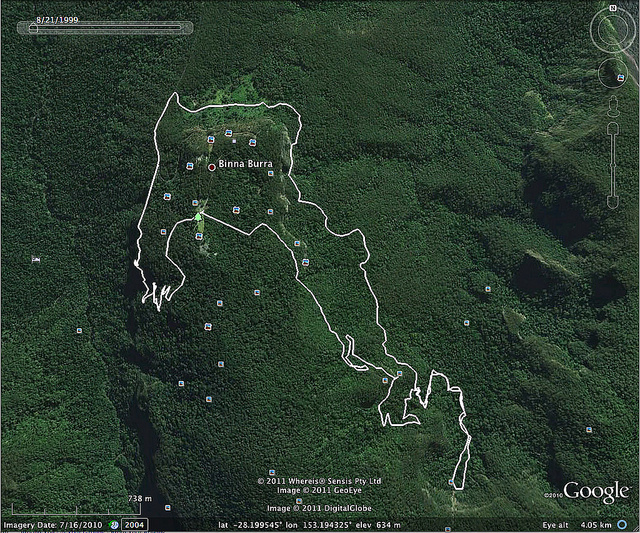Map of part of the national park. The dots you see are locations of reported attacks.