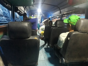 Inside the express boat to Lagunas (and onwards to Iquitos).