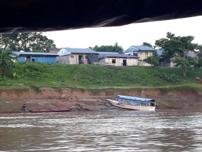One of the small villages along the river.